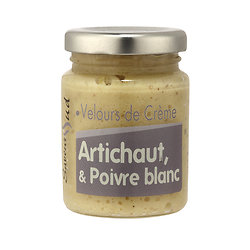 Velours de crème Artichaut et Poivre blanc