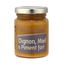 Velours de crème Oignons, miel et piment