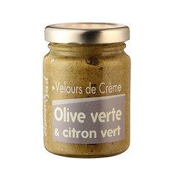Velours de crème Olives Vertes et citron vert