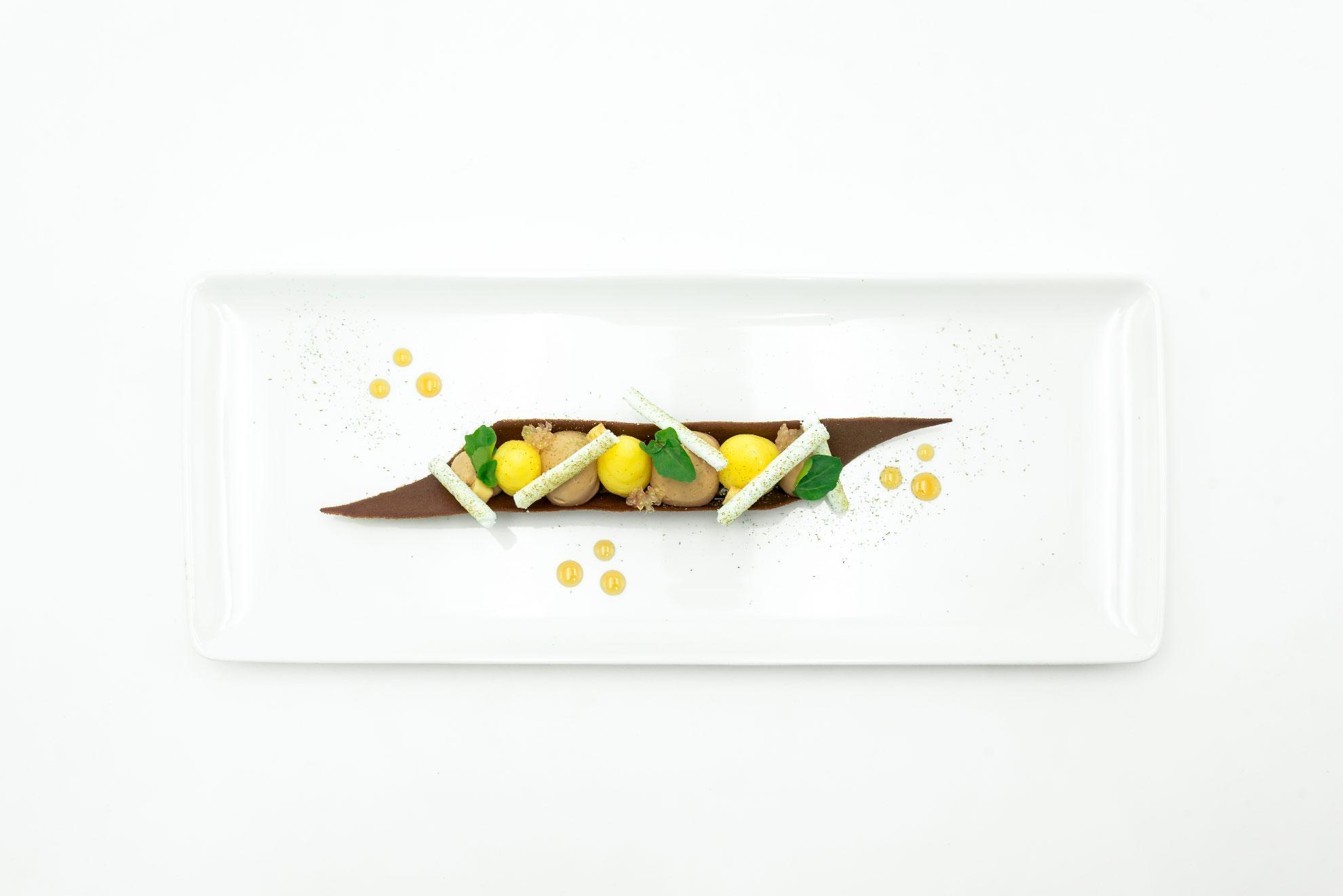 Cannoli au sapin, citron et chocolat